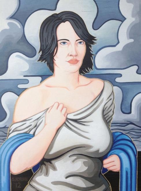 "'Cloud Cover Brings the Rain' Acrylic on Wood 18"" x 24"""