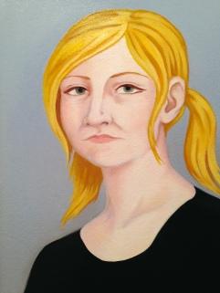Portrait Study, Oil on Paper 9 x 12