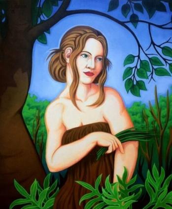 """'The Garden' 24"""" x 32"""" oil on canvas"""