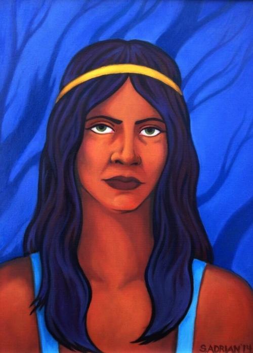 """'Aquarius' 12"""" x 16"""" oil on canvas"""