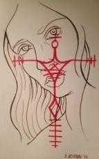 Acrylic ink drawing