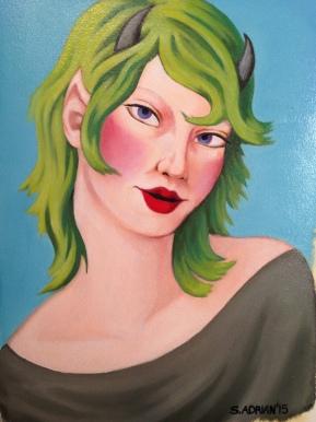 """Faun, Oil on Paper 11 x 14"""""""