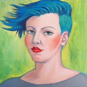 "Blu Tofu, Oil on Canvas 10 x 10"""