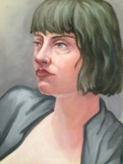 Portrait Study 2017, Oil on Paper 9 x 12""