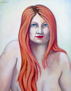 """Portrait Study 2017, Oil on Linen 16 x 20"""""""