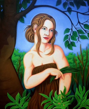 """The Garden, Oil on Canvas. 24"""" x 32"""""""