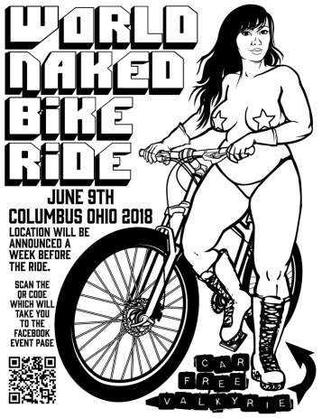 World Naked Bike Ride Columbus Poster 2018