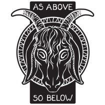 As Above So Below Baphomet Goat