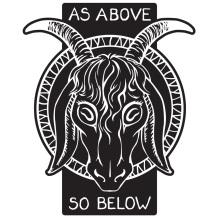 As Above So Below Baphomet Goat